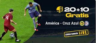 bwin promocion America vs Cruz Azul 16 marzo 2020