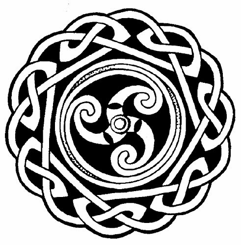 Celtic circle tattoo stencil
