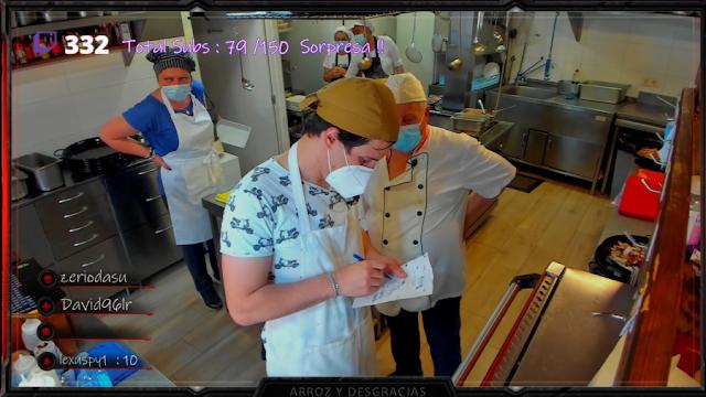 arroz y desgracias canal twitch cocina profesional en directo