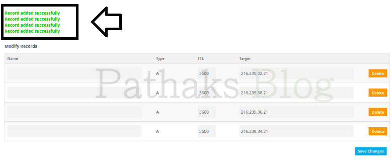 adding A records on freenom domain, pathaks blog, anil pathak blog
