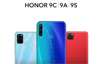 هونر تكشف عن ثلاثة هواتف جديدة Honor 9C, 9A, 9S