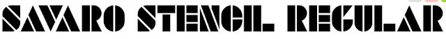 http://www.1001fonts.com/savaro-stencil-font.html