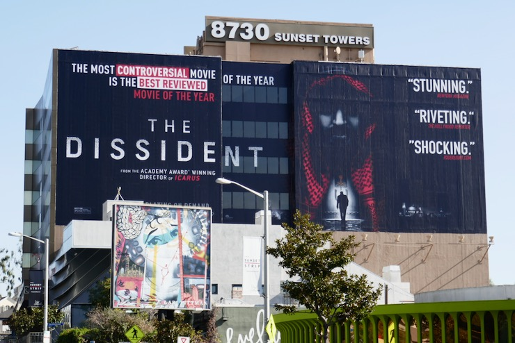Dissident giant documentary film billboard