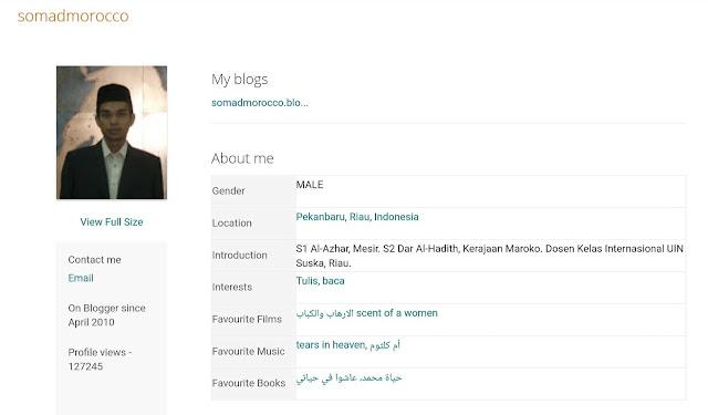 profile blogger UAS
