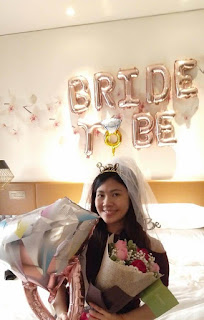 Bride to be with balloons