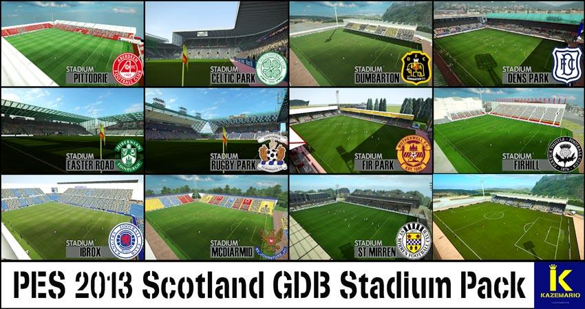Scotland GDB Stadium Pack For PES 2013