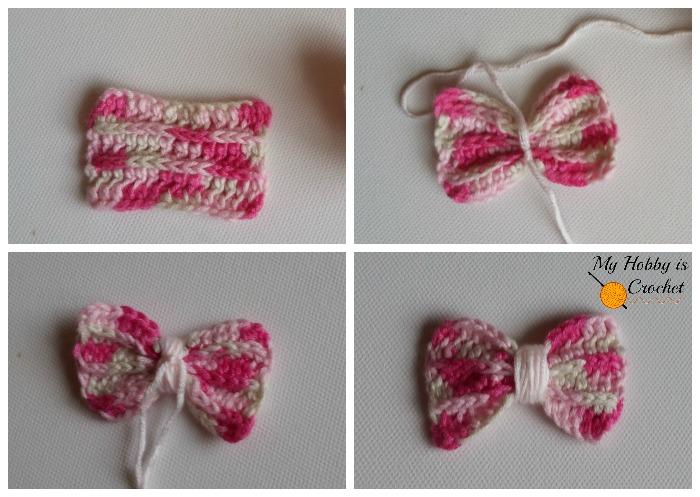 My Hobby Is Crochet Faux Knit Ridged Bow Free Crochet Pattern