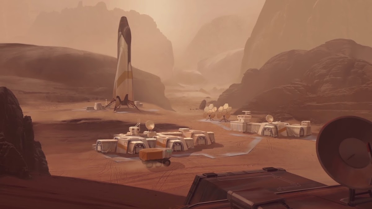 Mars base in Civilization 6 game (science victory)