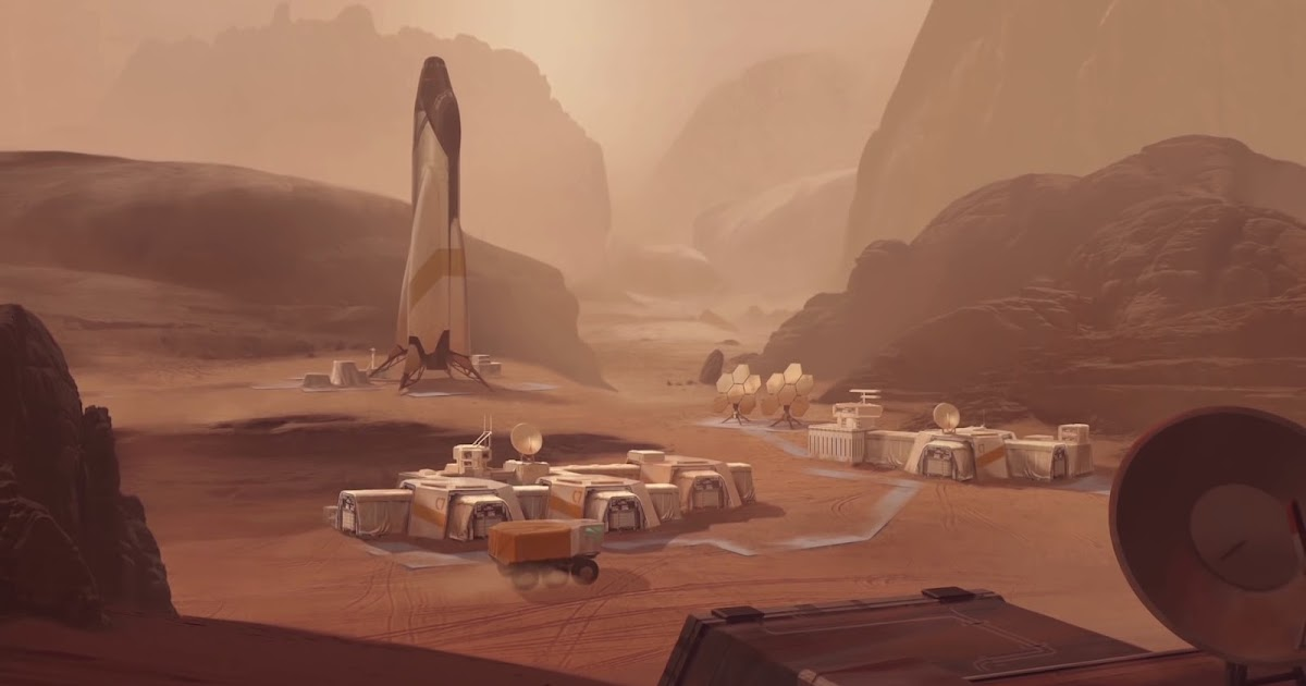 Mars base in Civilization 6 strategy game