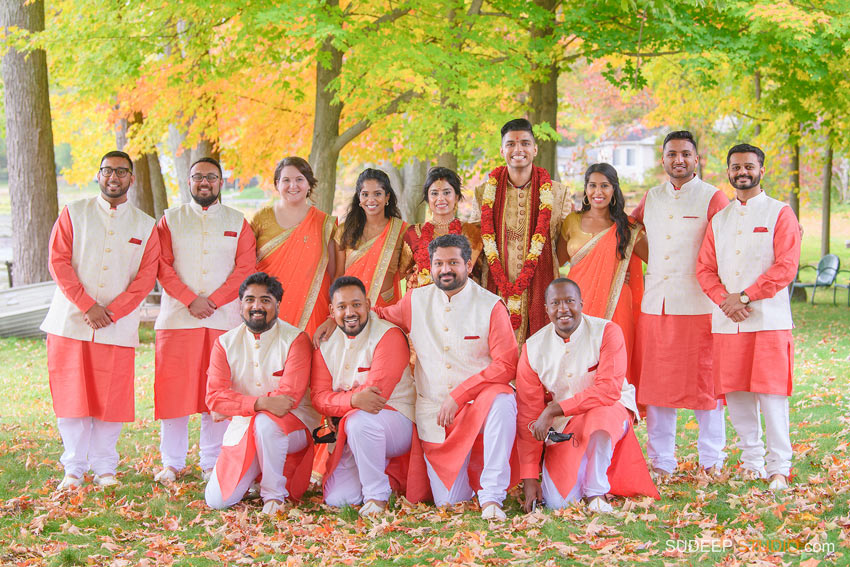 Indian Wedding Photography Bridesmaid Sari Groomsmen Dress by SudeepStudio.com Ann Arbor South Asian Indian Wedding Photographer