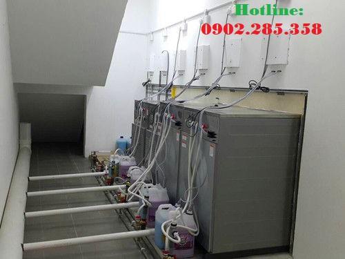 Hệ thống cấp điện nước máy giặt tính tiền tự động