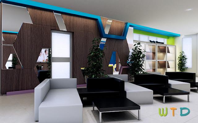Desain Interior Lobby Reception Sekolah Lampung