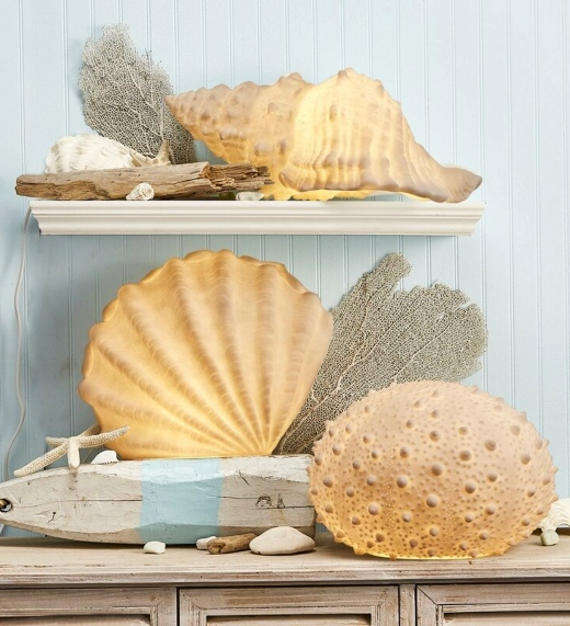 Sea Shell Light Sculptures Novelty Table Lamps