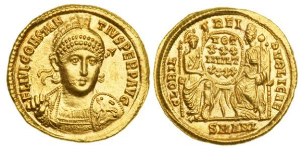 Sólido del emperador romano Constancio II