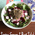 Spring Greens and Beet Salad with Creamy Maple Dijon Dressing
