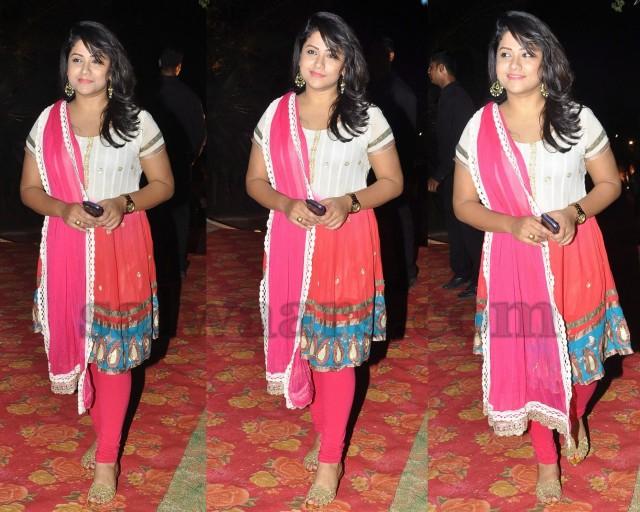 Telugu Actress Jyothi In Blue Salwar: Jyothi Reddy Designer Salwar