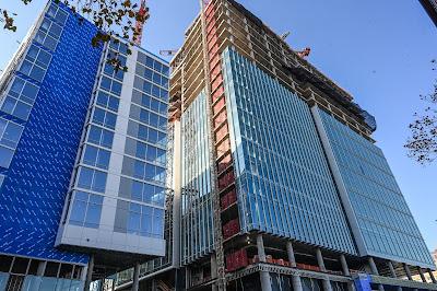 Bethesda Maryland construction, Boston Properties, Hensel Phelps, Bernstein Companies, Gensler, Woodmont Triangle, Marriott