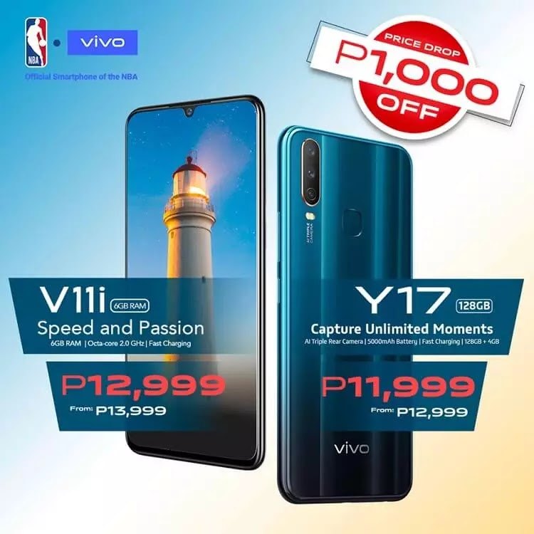 Vivo V11i, Vivo Y17 Get a Price Drop!