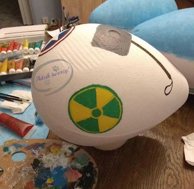 Adzik tworzy - ręcznie malowane jaja ze styropianu Avengers symbole