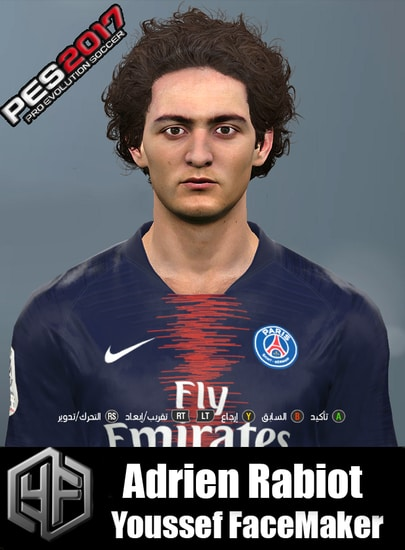 Adrien Rabiot Face For PES 2017
