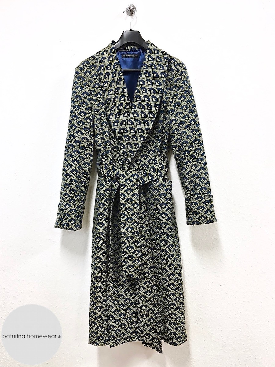 Men s thick dressing gown warm full length luxury cotton silk robe large  sizes 814df2c13