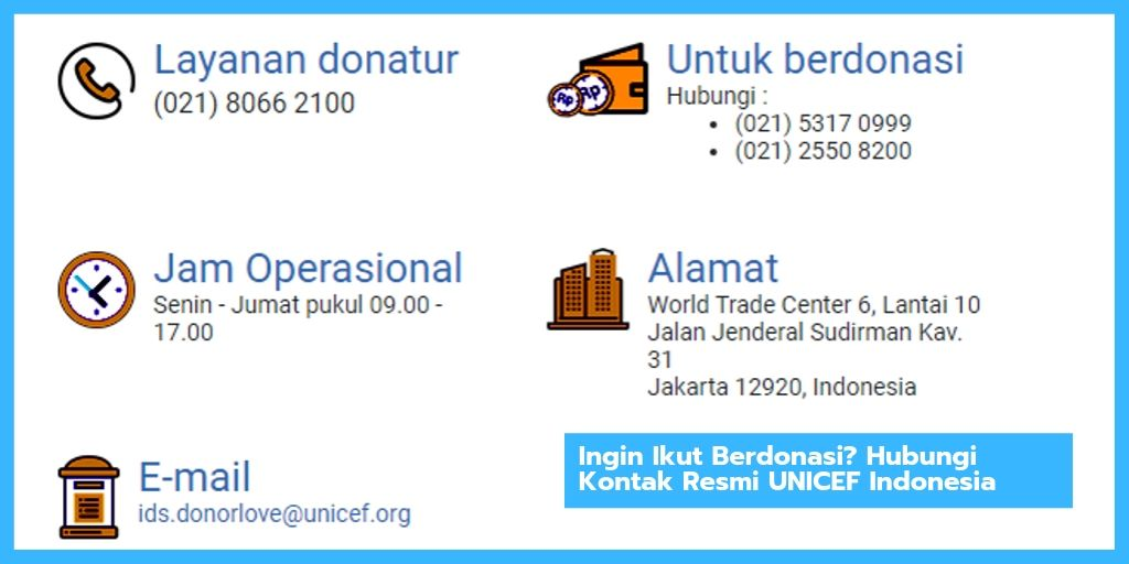 Cara Berdonasi di UNICEF Indonesia