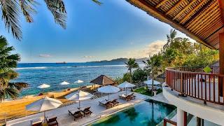 Villa di Bali Menghadap Pantai yang Nyaman dan Indah