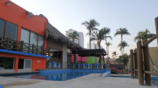 Restaurant and pool bar.
