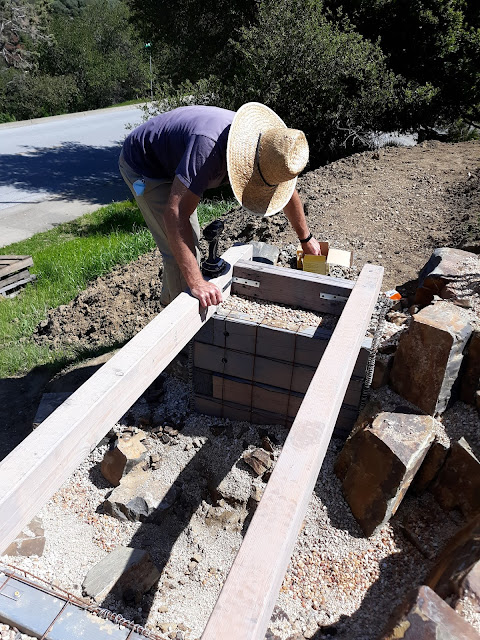 Building a footbridge over a dry creek
