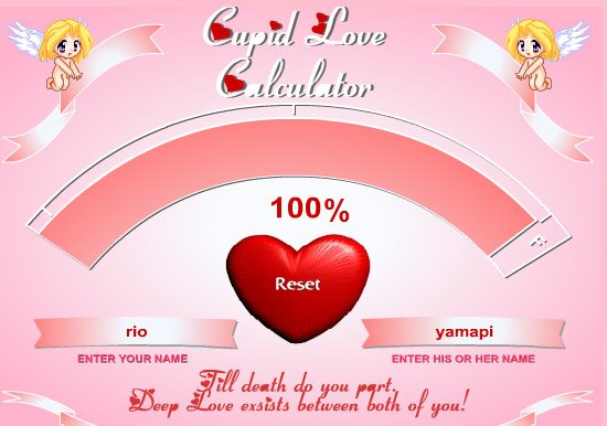 Have you tried the love calculator? – jewel 92. 5 fm clarence-rockland.