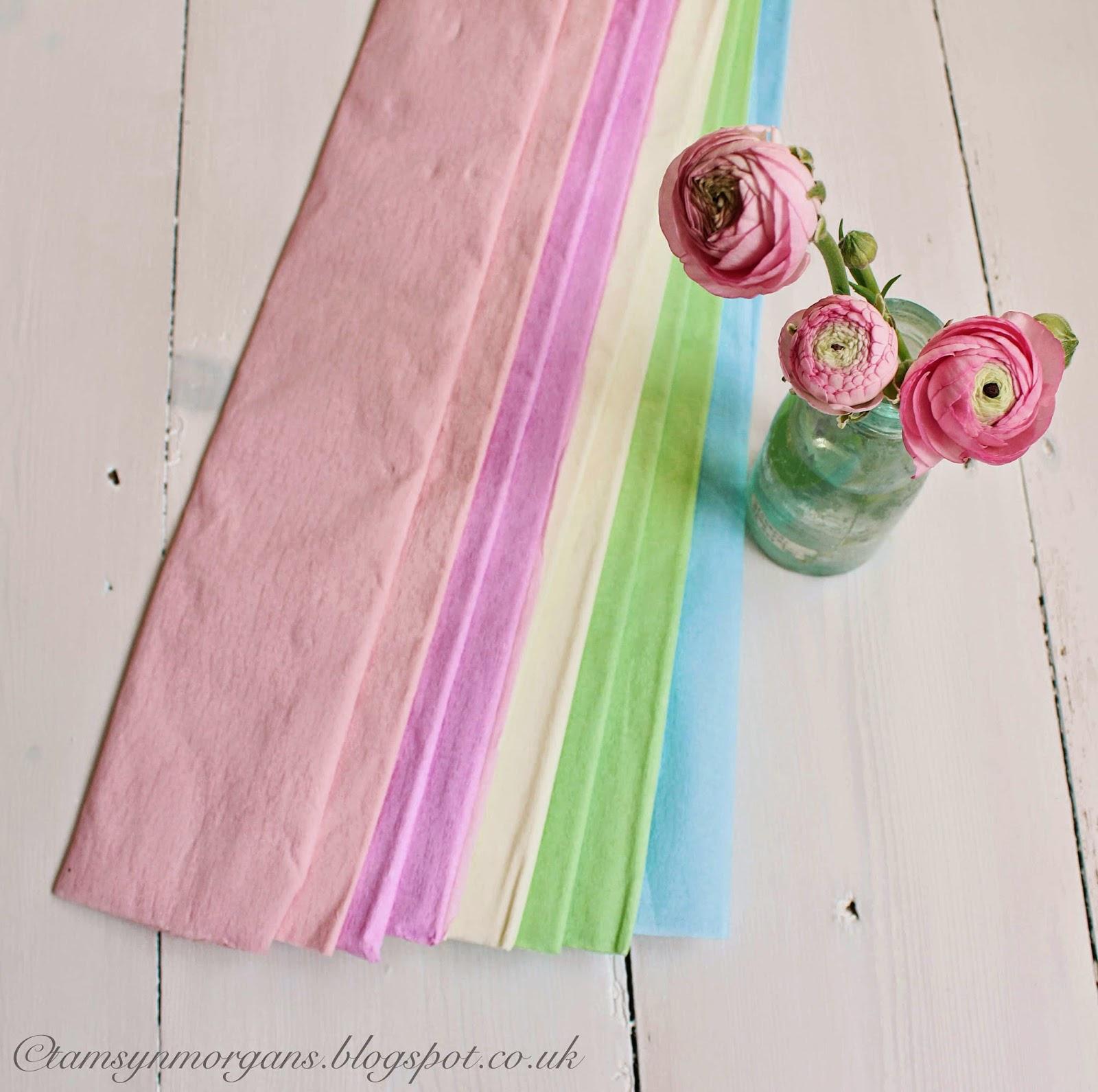 Pastel Crepe Paper