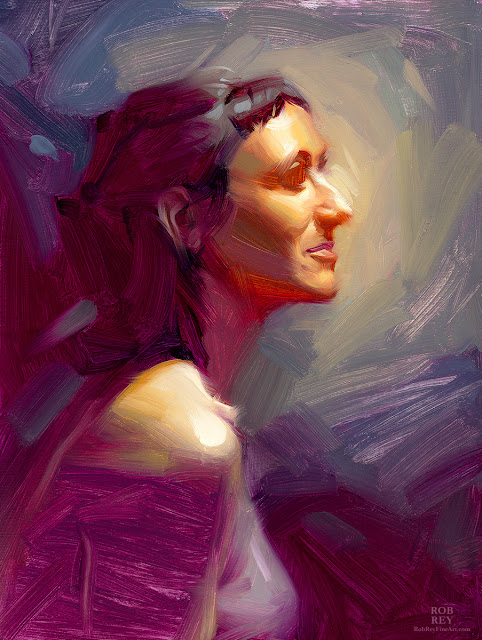 Head Study by Rob Rey - robreyfineart.com