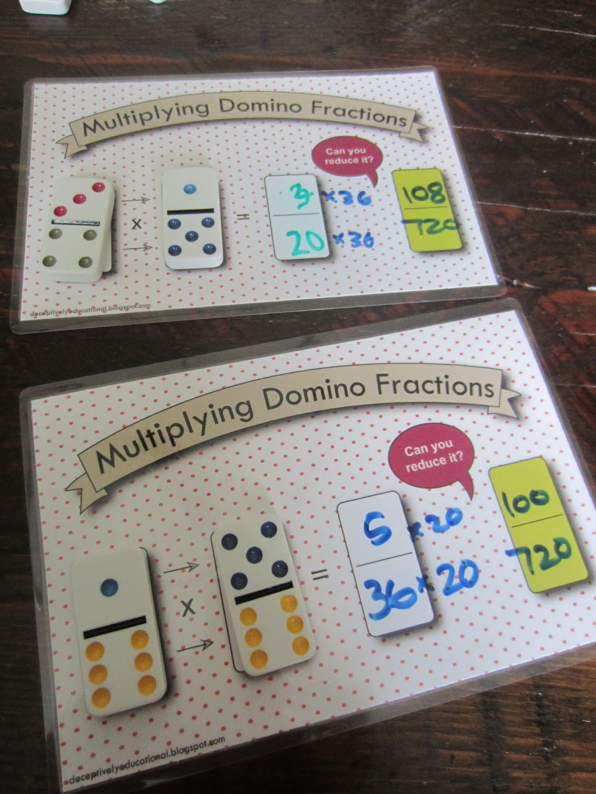 Comparing Fractions With Same Denominator Game