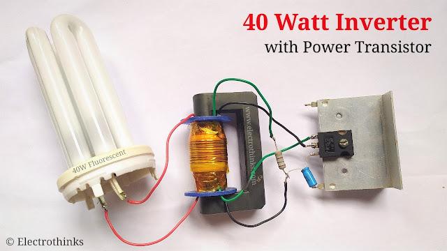40 Watt Inverter with Power Transistor