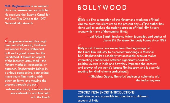 A Book by National Award-winning Film Critic M.K. Raghavendra, The Oxford India Short Introductions: Bollywood