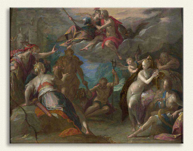 Hans von Aachen, Tanrıların Şaşkınlığı tablosu