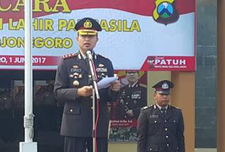 Jadi Irup Hari Lahir Pancasila, Kapolres Bojonegoro Sampaikan Sambutan Presiden RI