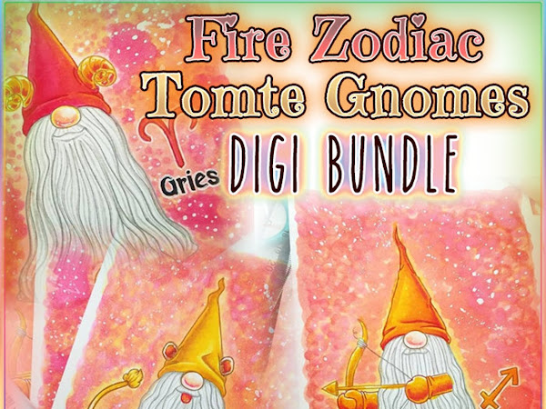 Bookmarks featuring Fire Zodiac Tomte Gnomes