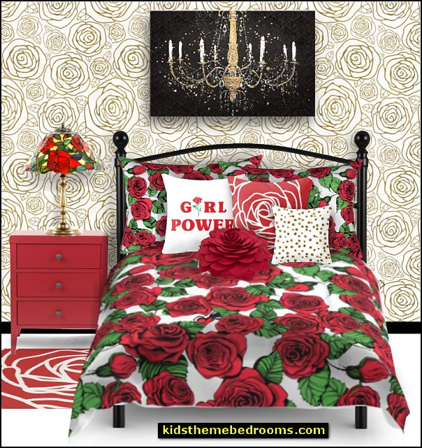 rose bedding rose wallpaper red rose pillows rose table lamp floral bedding - flowers pillows - floral duvet covers - Floral Bedding Sets - flower theme bedding - Floral Print Bedding - floral comforters - floral pillows - Roses bedding - Hydrangea bedding  - silk flowers - decorative floral pillows - garden bedroom decorating ideas
