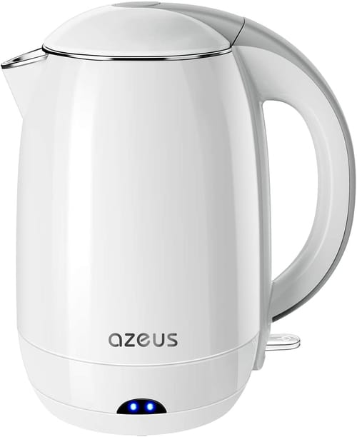 AZEUS 1500W Double Wall Electric Kettle BPA Free