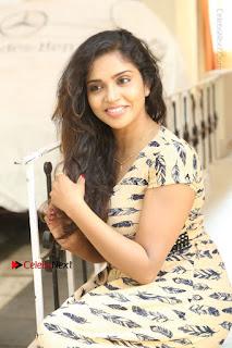 Telugu Actress Karunya Chowdary Stills in Short Dress at ATM Not Working Press Meet  0174.jpg