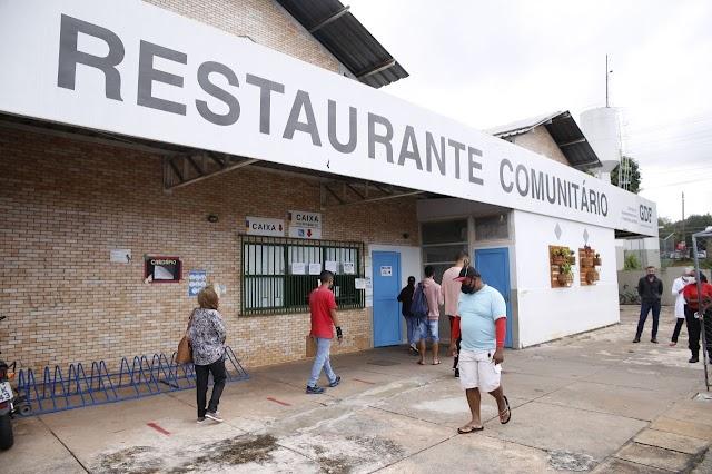 DF: Quase 3 milhões de refeições já foram servidas nos restaurantes comunitários em 2021