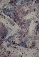 Crystaux, acrylique sur papier 7 x 5, tableau abstrait par Clémence S-Laurent