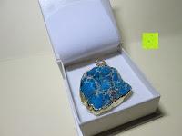 Stein in Box: Gorudo Schmuck® - Roh-Jasper Gold filled Halskette Golddipping