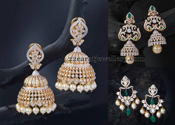 Diamond Earrings by Creations Jewellery