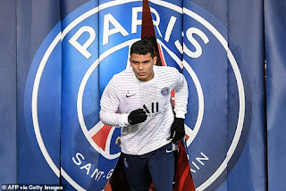 Tottenham manager Jose Mourinho 'looking to win the race to sign PSG defender Thiago Silva'