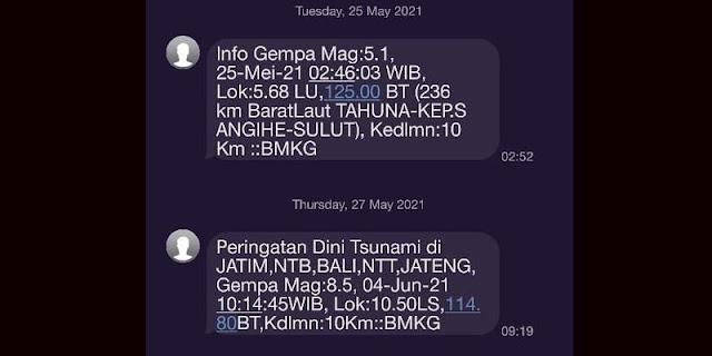 BMKG Tak Keluarkan SMS Peringatan Dini Tsunami
