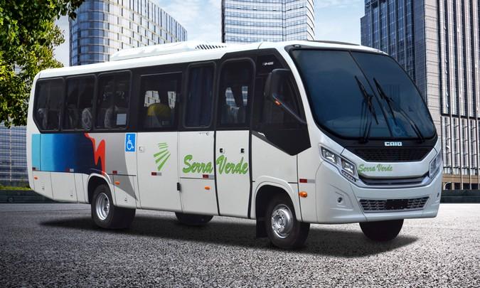 Caio entrega seis micros F2400 com New Face para Serra Verde Transportes