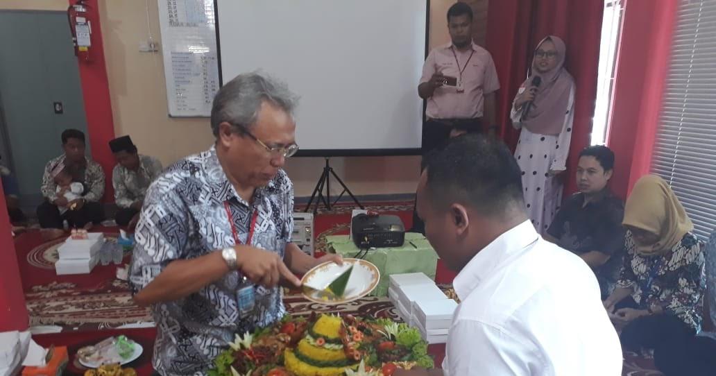 Pt Yakult Indonesia Persada Cabang Ke 91 Indralaya Adakan Syukuran Di Kantor Baru Dutasumsel