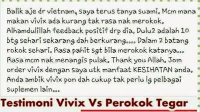 Testimoni Berhenti Merokok Dengan Vivix 4